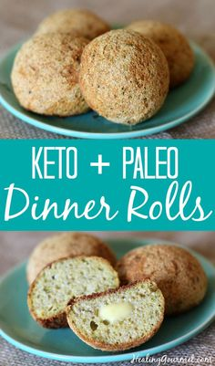 Who says bread can't be grain-free… and ketogenic? Try our simple and delicious Keto Paleo Dinner Rolls – Healing Gourmet Who says bread can't be grain-free… and ketogenic? Try our simple and delicious Keto Paleo Dinner Rolls – Healing Gourmet Ketogenic Recipes, Healthy Recipes, Low Carb Recipes, Cooking Recipes, Ketogenic Diet, Bread Recipes, Dukan Diet, Vegetarian Cooking, Lunch Recipes