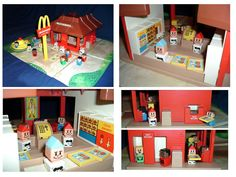 I had this 1974 McDonald's playset. It came with 2 cars, a playground that worked, cash registers that rang, and customers and cashiers that could carry trays. What a great toy!