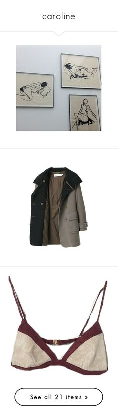 """""""caroline"""" by death-breath ❤ liked on Polyvore featuring pictures, pics, outerwear, coats, jackets, coats & jackets, women, fringe coat, see by chloe coat and see by chloé"""