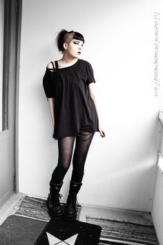 Grunge Outfits, Gothic Outfits, Edgy Outfits, Fashion Outfits, Hipster Grunge, Grunge Style, Goth Style, Soft Grunge, Alternative Outfits