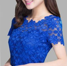 2017 New Summer Women Short Sleeve Shirts Lace Tee Tops Women Clothing Women Lace Blouse Sexy Floral Sheer Blouses Blusas Tee Shirt Dentelle, Lace Tee, Lace Shirts, Plus Size Womens Clothing, Plus Size Outfits, Plus Size Blouses, Blouses For Women, Ladies Blouses, Ladies Tops
