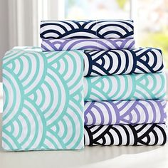 Quincy Scallop Sheet Set - Inspired by Japanese decorative papers.