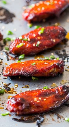 Spicy, crispy, full of umami and insanely addictive Korean baked gochujang chicken wings. You'll never go back to having wings any other way!