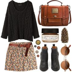 A fashion look from September 2013 featuring rag & bone sweaters, Jack Wills mini skirts and Jeffrey Campbell ankle booties. Browse and shop related looks.