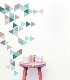 I've just found Geometric Triangles Vinyl Wall Sticker Set. A fabulously trendy way to add something interesting and unique to your home. Use these triangles to create shapes and patterns on your own walls. Wall Stickers Geometric, Geometric Wall, Vinyl Wall Stickers, Wall Decals, Wall Vinyl, Mural Wall Art, Geometric Patterns, Letter Wall Decor, Home Wall Decor