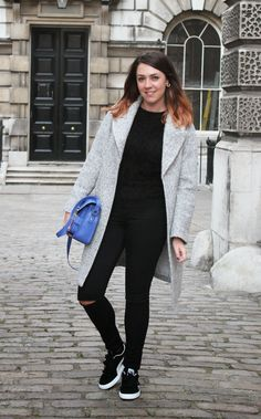 Hayley from Frock me I'm Famous wears Quiz Clothing fluffy jumper http://www.frockmeimfamous.com/2014/09/london-fashion-week-day-3.html