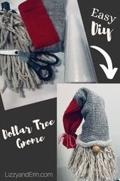 gnomes \ gnomes diy how to make + gnomes + gnomes crafts + gnomes diy how to make from socks + gnomes diy + gnomes diy how to make pattern + gnomes garden + gnomes diy free pattern Christmas Gnome, Diy Christmas Ornaments, Christmas Projects, Holiday Crafts, Christmas Holidays, Gnome Ornaments, Diy Christmas Decorations, Dollar Tree Christmas, Cool Christmas Gift Ideas