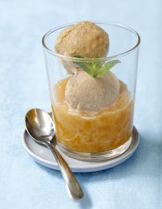 Granité café-cannelle et compotée d'abricots