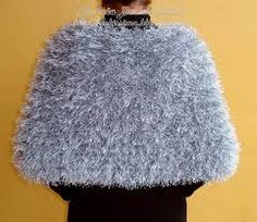estola de trico com fio peludinho - Pesquisa Google