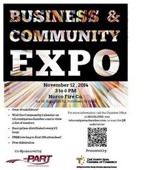 We took part in the Business and Community Expo at the Norco Fire Company on November 12, 2014.