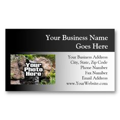 Shop Color Photo Personalized Business Card created by cutencomfy. High Quality Business Cards, Professional Business Cards, Fax Number, Business Names, Color, Company Names, Colour, Colors