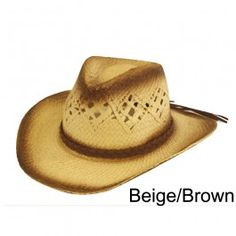Unisex Cowboy Sun Hat Fancy Dress  Beige/Brown