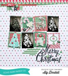 "Using the ""Christmas Cheer"" Designer Die and Stamp Set to Create this Scrapbook Layout (via Bloglovin.com )"