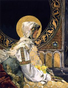 Praying Saint (1888).Joaquin Sorolla y Bastida.Oil on canvas. Museo del Prado, Madrid.