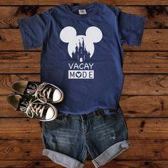 Disney Shirts - Disney Vacay Mode - Disney Vacation - Disney World - Disney Family Shirts - Mickey Group Shirts - Matching Disney - Disney clothes ideas - Disney Shirts For Family, Disney Family, Family Shirts, Custom Design Shirts, Custom Shirts, Shirt Designs, Disney Vacations, Disney Trips, Disney Cruise