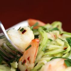 Zucchini Shrimp Scampi ✈✈✈ Here is your chance to win a Free Roundtrip Tic. Zucchini Shrimp Scampi ✈✈✈ Here is your chance to win a Free Roundtrip Ticket to Shrimp Recipes, Fish Recipes, Low Carb Recipes, Cooking Recipes, Healthy Recipes, Zucchini Noodle Recipes, Zucchini Noodles, Healthy Meals, Healthy Cooking