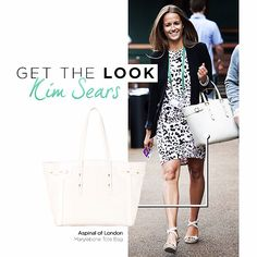 Wimbledon style: Kim Sears carries her Aspinal of London bag to centre court! Style her style here: http://hofra.sr/yEDZU
