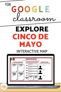 These low-prep, post and go activities are a great way to celebrate Cinco de Mayo with your Spanish students! Students explore a digital interactive Google Map and complete a graphic organizer on Google Slides or comprehension questions for a great activity to explore the history of Cinco de Mayo in your novice middle school and high school Spanish class. Spanish Lesson Plans, Spanish Lessons, Spanish 1, Spanish Activities, Class Activities, Middle School Spanish, Virtual Field Trips, Thing 1, Spanish Classroom