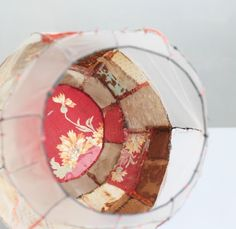 Méchant Design: recycled fabric  A pieced lampshade? Yes please!
