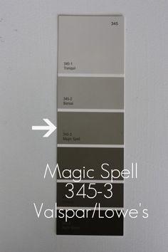 Love This Grey Paint Color Valspar S Quot Magic Spell Quot Good