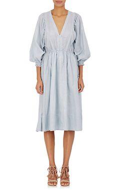 Anais Striped Cotton Dress
