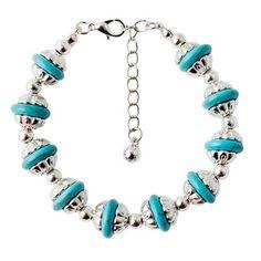 Ethnic Bead Faux Turquoise Bracelet
