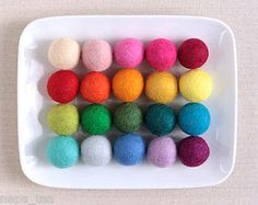 Holiday 160716: Felt Ball Christmas Decoration 2Cm 20Mm Pom Pom Nursary Craft Garland -> BUY IT NOW ONLY: $82.99 on eBay!