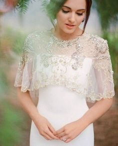 This beaded capelet is SO pretty.