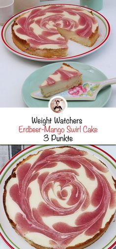 Enjoy sweets without a guilty conscience! - Enjoy sweets without a guilty conscience! I recently baked a Weight Watchers strawberry mango swirl - Weight Watcher Desserts, Weight Watchers Snacks, Petit Déjeuner Weight Watcher, Weight Watchers Kuchen, Weight Watchers Breakfast, Weigt Watchers, Mousse, Guilty Conscience, Swirl Cake