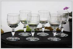 Baccarat Renaissance 6 verres à vin n°4 neufs - 6 Bordeaux wine glasses new