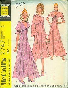 1971 sewing pattern McCalls 2747 by Biba