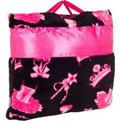 OC Daisy Ballerina Print Napbag Travel Blanket and Pillow Set