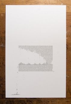 Erosion and Typography 3 11 X 17 inch by jasonpermenter on Etsy