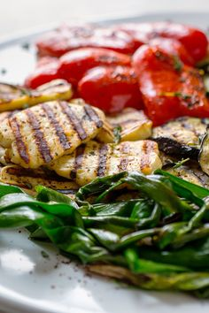 Halloumi is a firm, white, brined cheese traditionally made from a mixture of goat's and sheep's milk (Though today, cow's milk is often used.) Like other low-fat cheeses, it is perfect for grilling It sears and colors quickly when it hits the hot grill