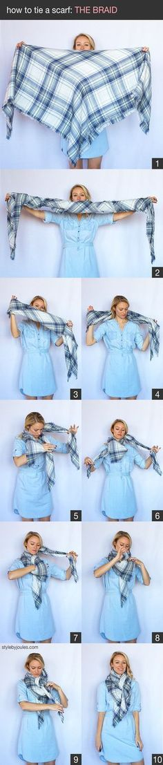 How to tie a scarf, how to wear a scarf, styling a blanket scarf, styling a scarf, my 9 favorite easy ways to tie a scarf