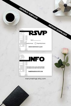 Wedding RSVP Template 15 Printable Wedding by MarryMakings