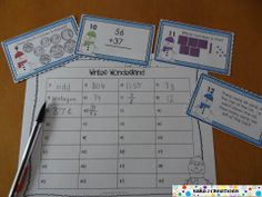 Winter Math Task Cards - Common Core Aligned for Second Grade. 32 task cards in color and black and white. Includes topics such as place value, story problems, double digit addition and subtraction, time, money and fractions