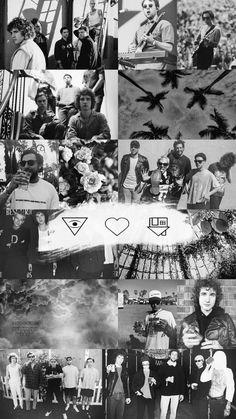 Black Phone Wallpaper, Music Wallpaper, Tumblr Wallpaper, Dark Wallpaper, Black Aesthetic Wallpaper, Aesthetic Iphone Wallpaper, Aesthetic Wallpapers, Music Collage, Collage Art