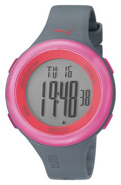 I think I've found my running watch. PUMA 'Fit' Heart Rate Monitor Watch available at #Nordstrom
