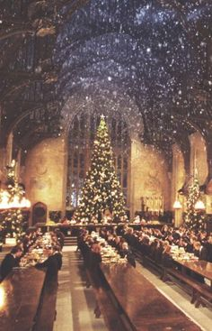 Hogwarts Christmas...is it bad I want this as a picture in my home during the holidays...