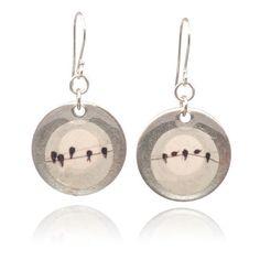 washer earrings. washers, resin, ear wires