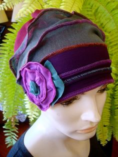 this is a GypsyLOve original design that is protected by patent and copyright    This is a fun gypsy hat suitable for any woman  It has two