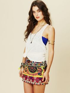 Free People FP ONE Embroidered Mini, $198.00