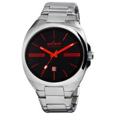 Reloj Axcent modelo Cyber Acero inoxidable. Esfera negra y roja.  http://www.tutunca.es/reloj-cyber-acero-negro-rojo