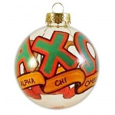 Very Small Alpha Chi Omega Holiday Ornament
