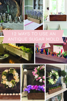 12 Ways to use an Antique Sugar Mold - The Hamby Home Rustic Wedding Centerpieces, Flower Centerpieces, Table Centerpieces, Centerpiece Ideas, Vintage Farmhouse, Farmhouse Decor, Farmhouse Style, Sugar Mold, Mantle Piece