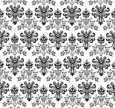 Hunted mansion / phantom manor Wallpaper this is the Pattern that I have created based on the Hunted mansion / phantom manor Wallpaper that I intend to have vinyled on to project DoomBuggy I have now uploaded a Higher res pic of this wallpaper