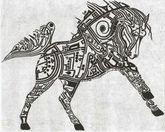 صور حيوانات بالخط العربي لوحات وقطع فنيه روعه