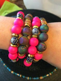 Color pop with semi-precious stones and gem stones. Cactus Blues Boutique