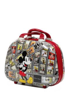 Mickey Film Vanity Case Mickey Mouse Luggage, Disney Luggage, Mickey Mouse And Friends, Mickey Minnie Mouse, Disney Mickey, Disney Diy, Disney Trips, Disney Purse, Disney Kitchen